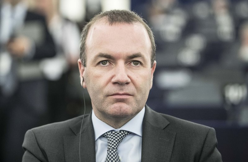 Germany Christian Democratic Union Manfred Weber, member of the Christian Social Union party, CSU, and top candidate of the European People's Party (EPP) for the European elections, attend a debate on the future Europe at the European Parliament in Strasbourg, eastern France, Tuesday Feb. (AP Photo/Jean-Francois Badias)
