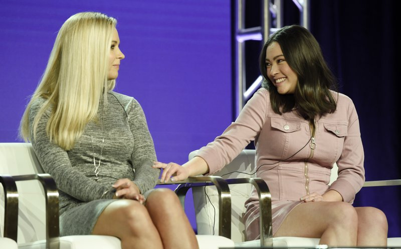 Kate Gosselin, left, and her daughter Mady, cast members in the TLC series