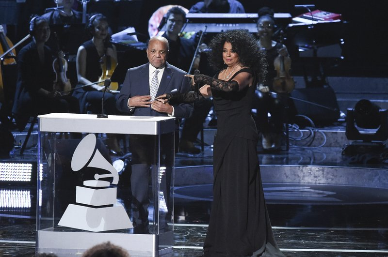 Berry Gordy, left, and Diana Ross onstage during Motown 60: A GRAMMY Celebration at the Microsoft Theater on Tuesday, Feb. (Photo by Richard Shotwell/Invision/AP)