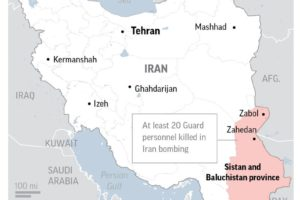 Report: At least 20 Guard personnel killed in Iran bombing