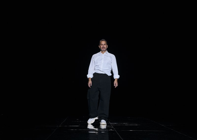 Fashion designer Marc Jacobs appears during his show at Fashion Week in New York, Wednesday, Feb. 13, 2019. (AP Photo/Andres Kudacki)