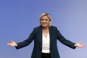 French Le Pen boasts far-right power crowd for EU elections