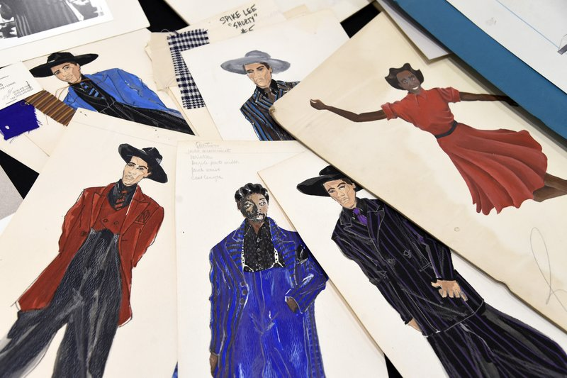 This Jan. 15, 2019 photo shows renderings of fashions created by Oscar nominated costume designer Ruth E. (Photo by Chris Pizzello/Invision/AP)