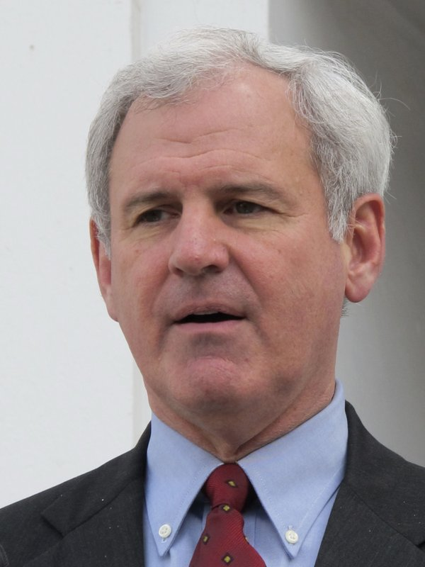 FILE - This Feb. 24, 2011 file photo shows former gubernatorial candidate Bradley Byrne at a news conference in Montgomery, Ala. (AP Photo/Phillip Rawls, File)