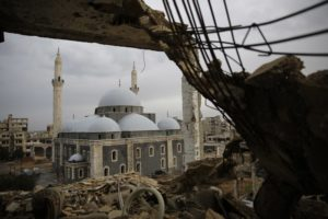 Chechen religious leaders re-open landmark mosque in Syria