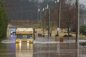 Photos: Rivers rise in soggy South as days of rain flood roads