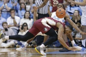 Johnson, Maye lead No. 8 UNC past No. 16 FSU, 77-59