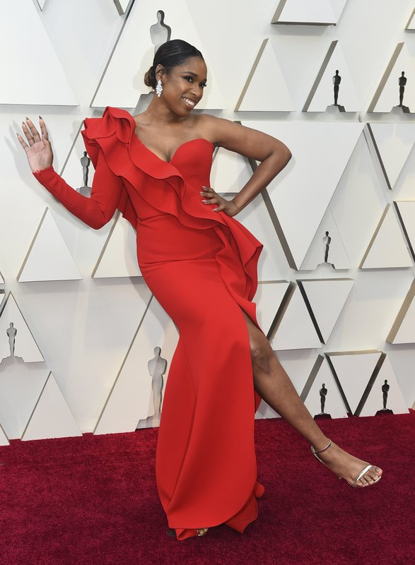Jennifer Hudson poses as she arrives at the Oscars on Sunday, Feb. 24, 2019, at the Dolby Theatre in Los Angeles. (Photo by Jordan Strauss/Invision/AP)
