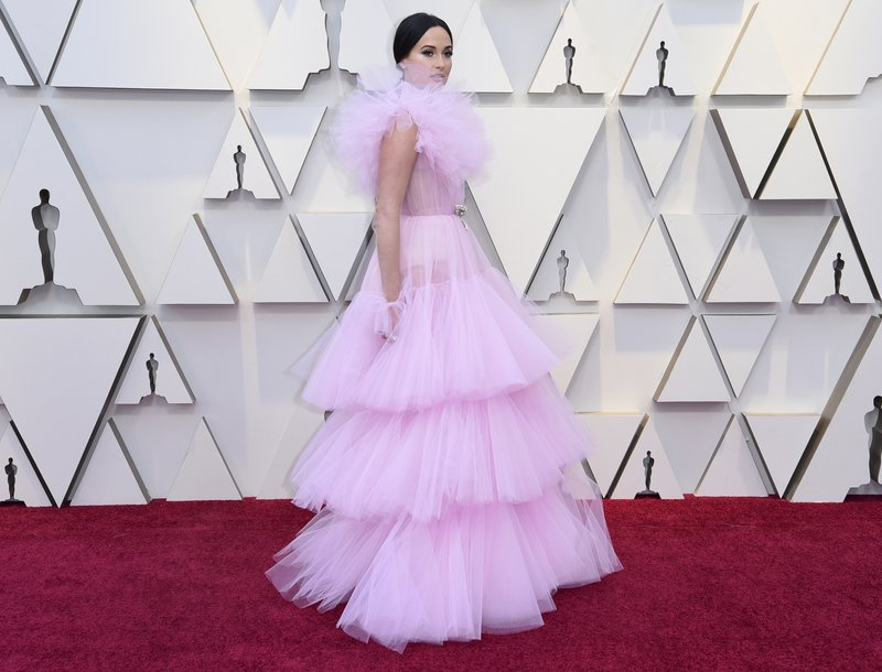Kacey Musgraves arrives at the Oscars on Sunday, Feb. 24, 2019, at the Dolby Theatre in Los Angeles. (Photo by Richard Shotwell/Invision/AP)