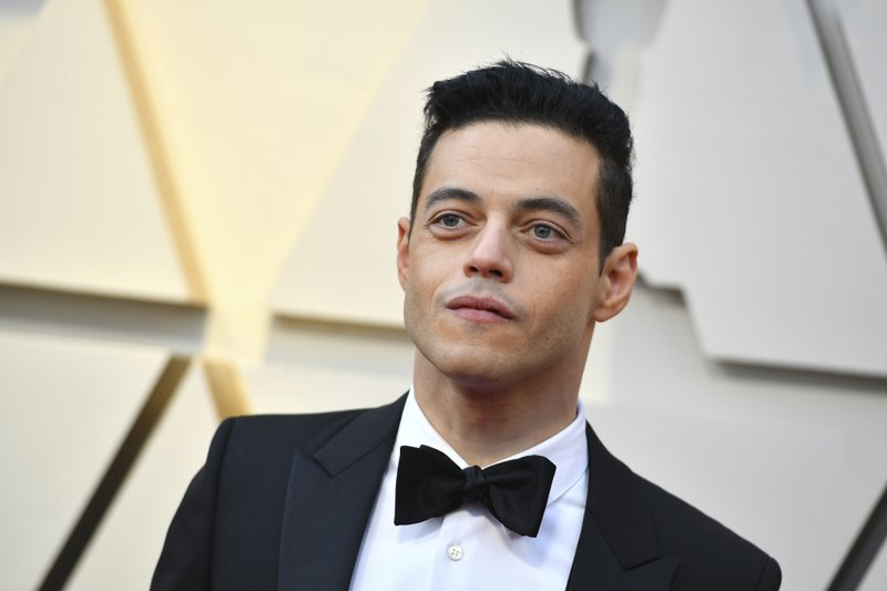 Rami Malek arrives at the Oscars on Sunday, Feb. 24, 2019, at the Dolby Theatre in Los Angeles. (Photo by Jordan Strauss/Invision/AP)