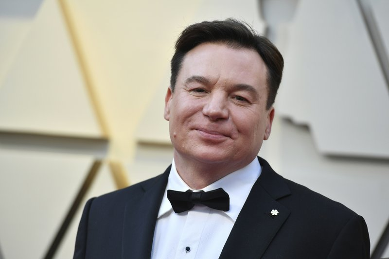 Mike Myers arrives at the Oscars on Sunday, Feb. 24, 2019, at the Dolby Theatre in Los Angeles. (Photo by Jordan Strauss/Invision/AP)