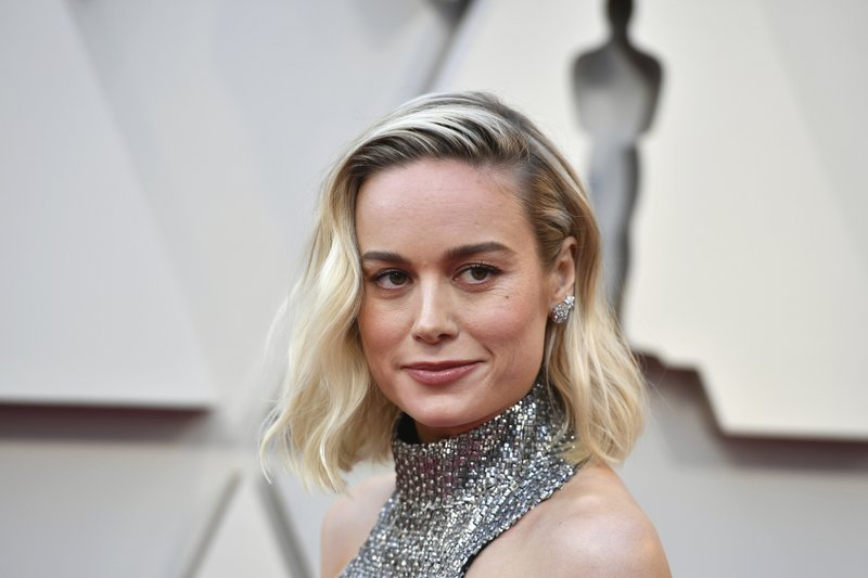 Brie Larson arrives at the Oscars on Sunday, Feb. 24, 2019, at the Dolby Theatre in Los Angeles. (Photo by Jordan Strauss/Invision/AP)