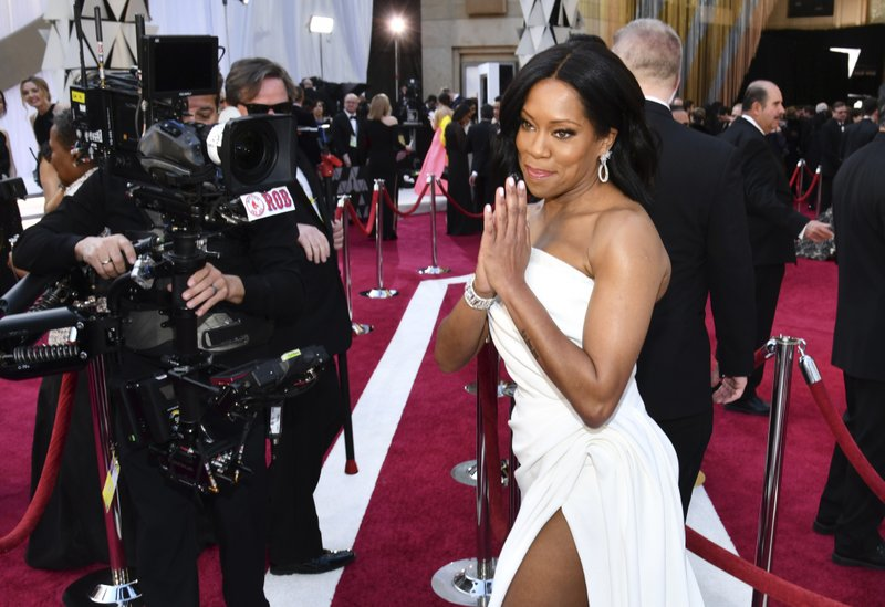 Regina King arrives at the Oscars on Sunday, Feb. 24, 2019, at the Dolby Theatre in Los Angeles. (Photo by Charles Sykes/Invision/AP)