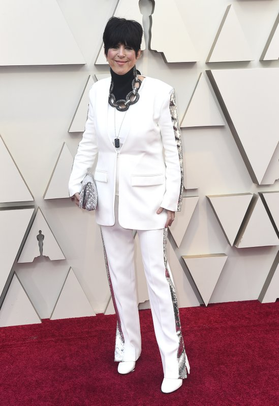 Diane Warren arrives at the Oscars on Sunday, Feb. 24, 2019, at the Dolby Theatre in Los Angeles. (Photo by Jordan Strauss/Invision/AP)