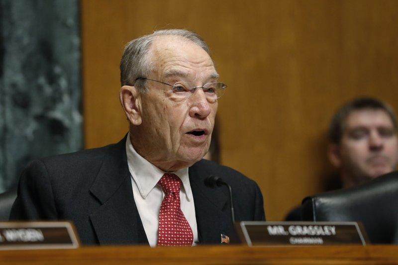 Sen. Chuck Grassley, R-Iowa, chairman of the Senate Finance Committee, attends a hearing on drug prices, Tuesday, Feb. (AP Photo/Jacquelyn Martin)