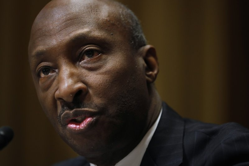 Kenneth Frazier, Chairman and Chief Executive Officer Merck & Co., Inc., testifies before the Senate Finance Committee hearing on drug prices, Tuesday, Feb. (AP Photo/Jacquelyn Martin)