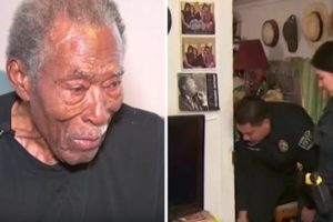 92-yr-old calls cops about thief but when cops arrive for report can't ignore distressing sight inside home