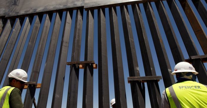 A section of the border wall on the outskirts of Ciudad Juarez, Mexico