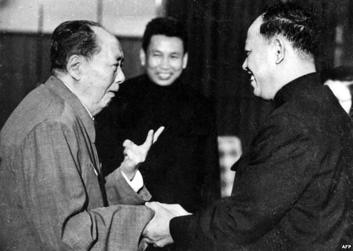 FILE - A photo taken in the 1970 outside of Cambodia, shows China's chair
