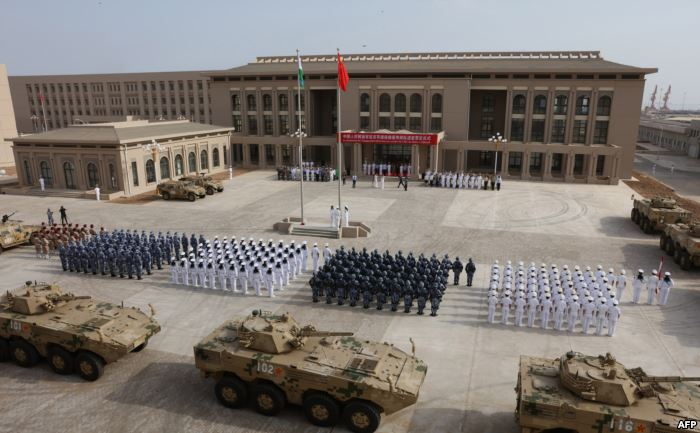 FILE - Chinese People's Liberation Army personnel attend the opening cere