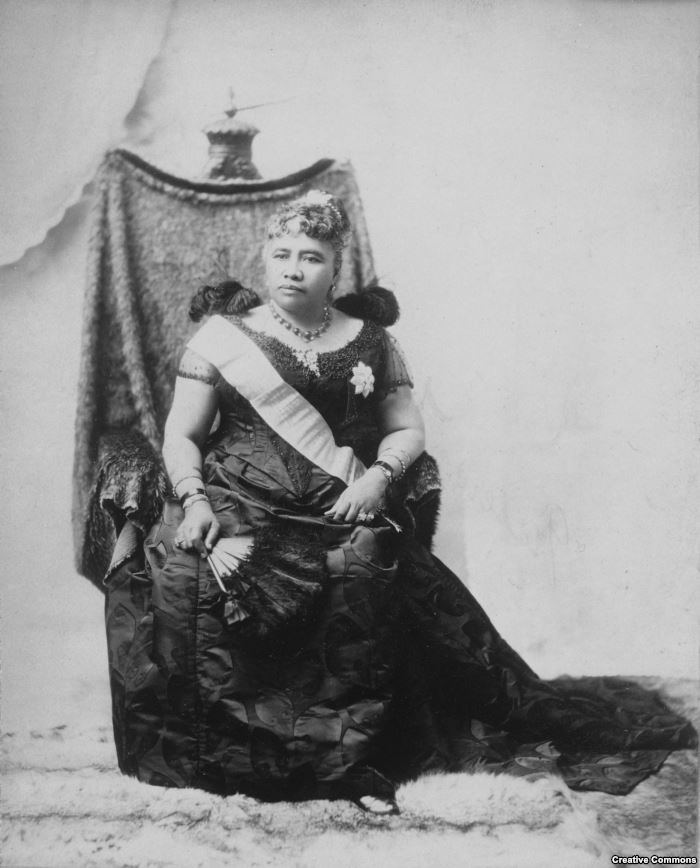 Hawaii's Queen Liliuokalani, who was removed from the throne in a coup wi