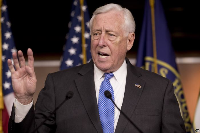 House Majority Leader Steny Hoyer of Maryland, speaks at a news conference to