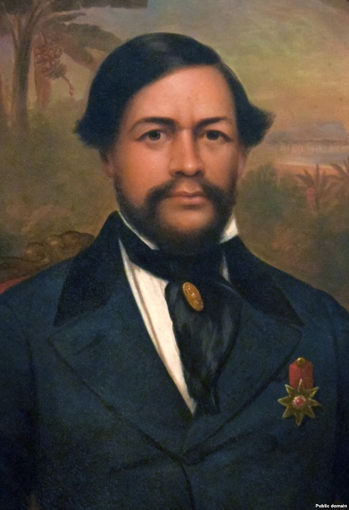 Portrait by an unknown artist of King Kamehameha III, who ruled from 1825 to