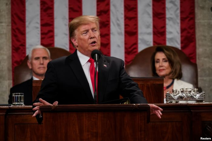 President Donald Trump delivered the State of the Union address, with Vice Pr