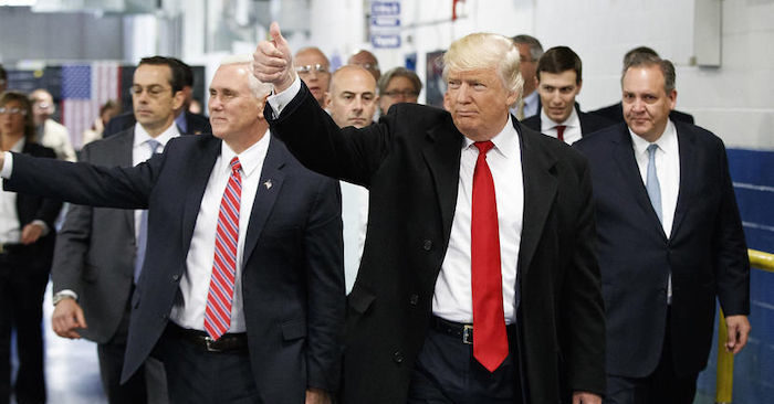 Trump and Pence visit a Carrier factory