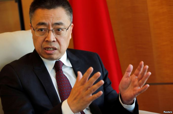 Xiangchen Zhang, Chinese ambassador to the World Trade Organization attends a