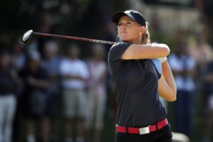 American Amy Olson leads by 2 strokes at LPGA Singapore