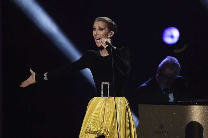FILE - In this Sunday, Jan. 13, 2019, file photo, Celine Dion performs at the