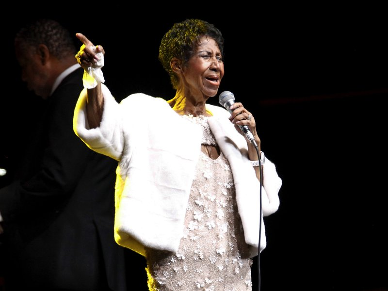 FILE - In this Nov. 7, 2017, file photo, Aretha Franklin attends the Elton John AIDS Foundation's 25th Anniversary Gala in New York. (Photo by Andy Kropa/Invision/AP, File)