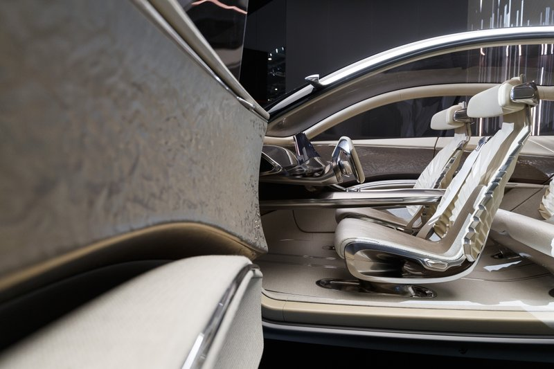 The interior of the Kia Imagin concept car is displayed during the press day at the '89th Geneva International Motor Show' in Geneva, Switzerland, Tuesday, March 5, 2019. (Cyril Zingaro/Keystone via AP)