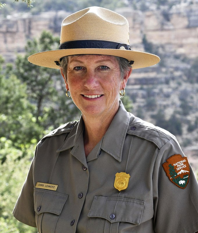 FILE - This May 19, 2018 file photo released by the National Park Service shows Grand Canyon National Park Superintendent, Christine Lehnertz at Grand Canyon National Park, Ariz. (Michael Quinn/National Park Service via AP, File)
