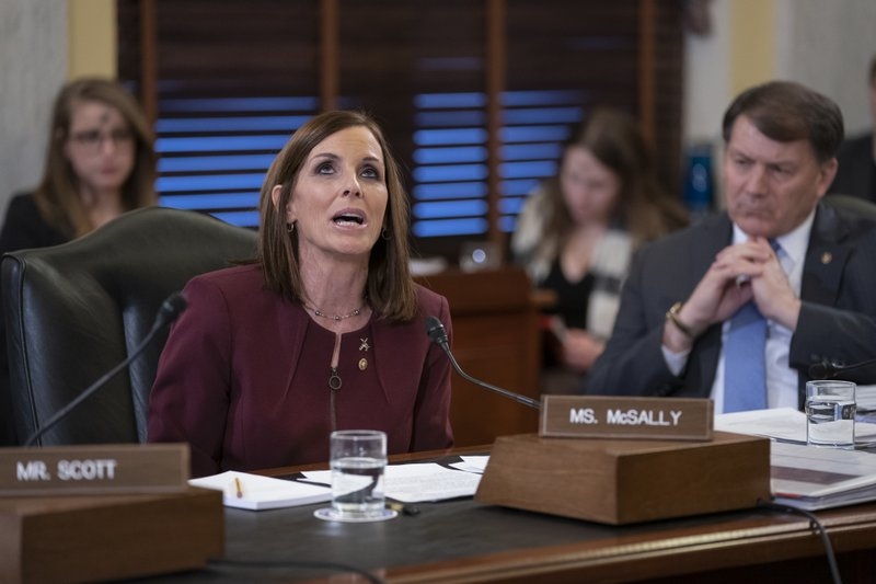 During a hearing by the Senate Armed Services Subcommittee on Personnel about prevention and response to sexual assault in the military, Sen. (AP Photo/J. Scott Applewhite)