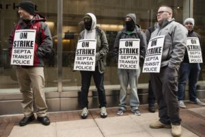 Philadelphia transit police strike over working conditions