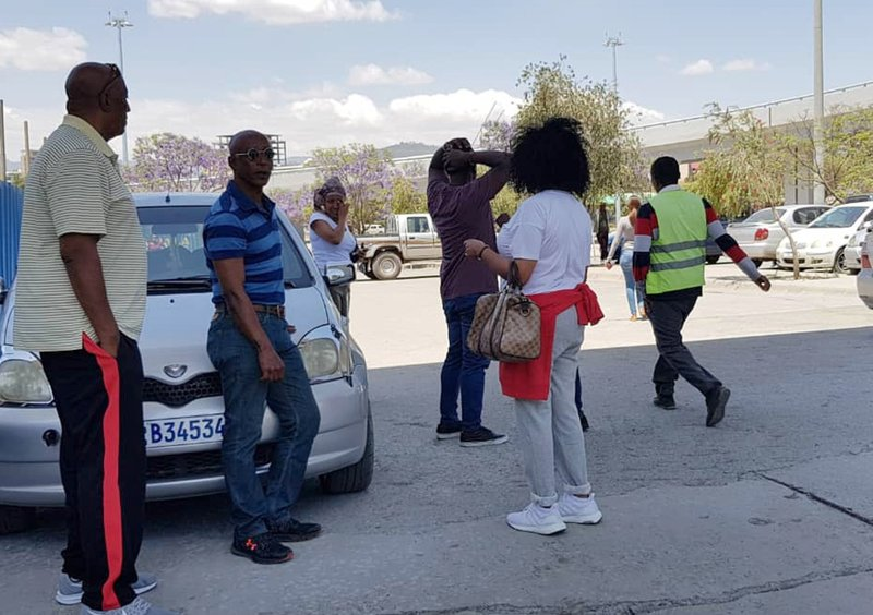 Family members arrive at Bole International airport in Addis Ababa, Ethiopia, Sunday, March 10, 2019, to check on information on the Ethiopian flight that crashed. (AP Photo/Elias Masseret)