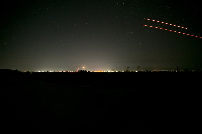 U.S.-backed Syrian Democratic Forces (SDF) fire on Islamic State militant positions in Baghouz, Syria, Monday, March 11, 2019. (AP Photo/Maya Alleruzzo)