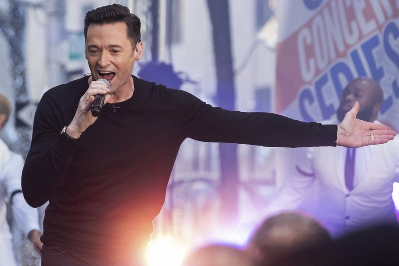 Actor and singer Hugh Jackman performs on NBC's