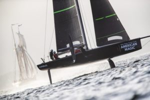Mule a speedy  workhorse for American Magic sailing crew