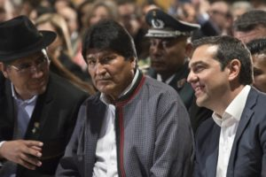 Greece backs Bolivian leader's call for Venezuela dialogue
