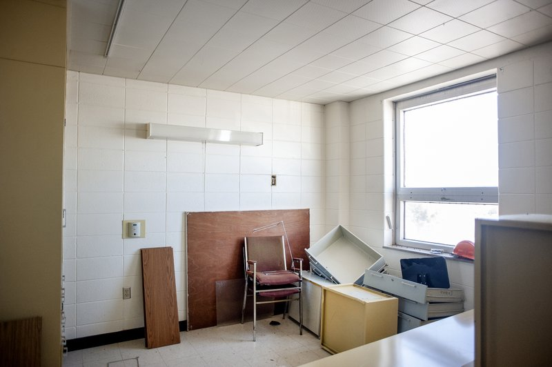 The fourth floor at the Rock County Health Care Center in Janesville is mostly empty. Some of the rooms are used for storage. (Angela Major/The Janesville Gazette via AP)