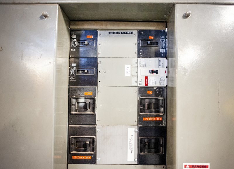Electrical breakers at the Rock County Health Care Center in Janesville are obsolete and overloaded, Facilities Management Director Brent Sutherland said. (Angela Major/The Janesville Gazette via AP)
