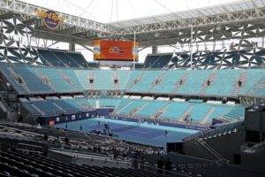 1st day of play at Miami Open's new site washed out