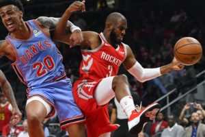 Harden, Capela lead Rockets to easy win over Hawks