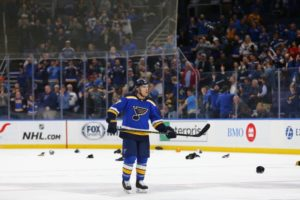 Schwartz scores hat trick for Blues in 7-2 win over Oilers