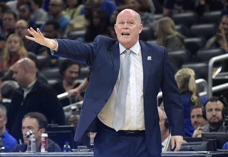 Orlando Magic coach Steve Clifford calls out instructions during the first half of the team's NBA basketball game against the New Orleans Pelicans on Wednesday, March 20, 2019, in Orlando, Fla. (AP Photo/Phelan M. Ebenhack)