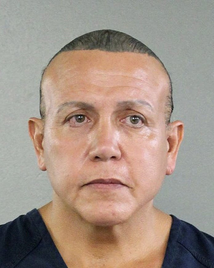 FILE - This Aug. 30, 2015, file photo released by the Broward County Sheriff's office shows Cesar Sayoc in Miami. (Broward County Sheriff's Office via AP, File)