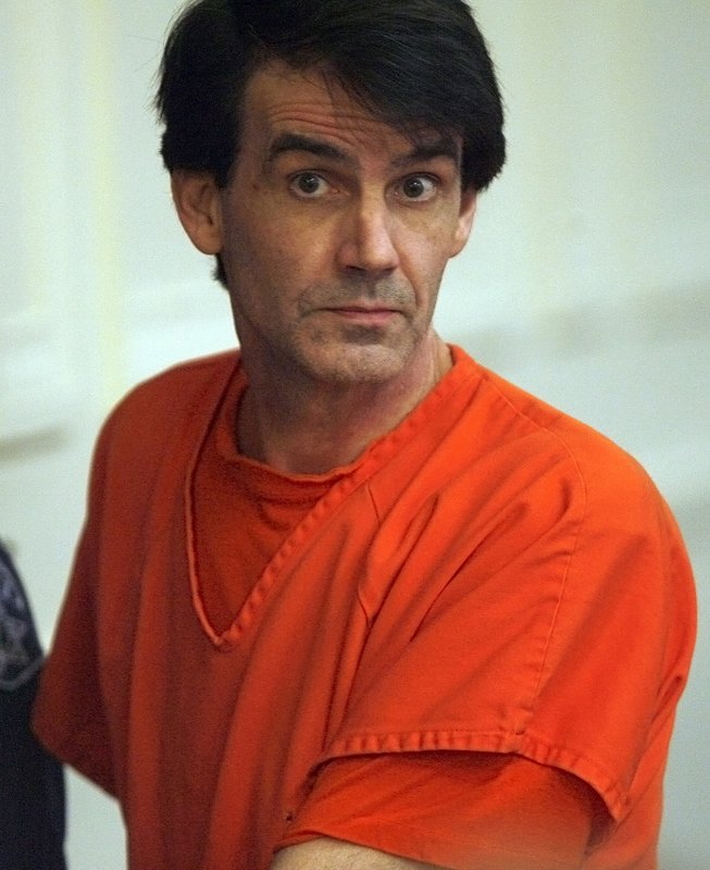 FILE--In this Oct. 2011, file photo, James Kraig Kahler listens to the judge while being sentenced in Osage County Court in Lyndon, Kansas. (AP Photo/Anthony S. Bush, Pool, File)